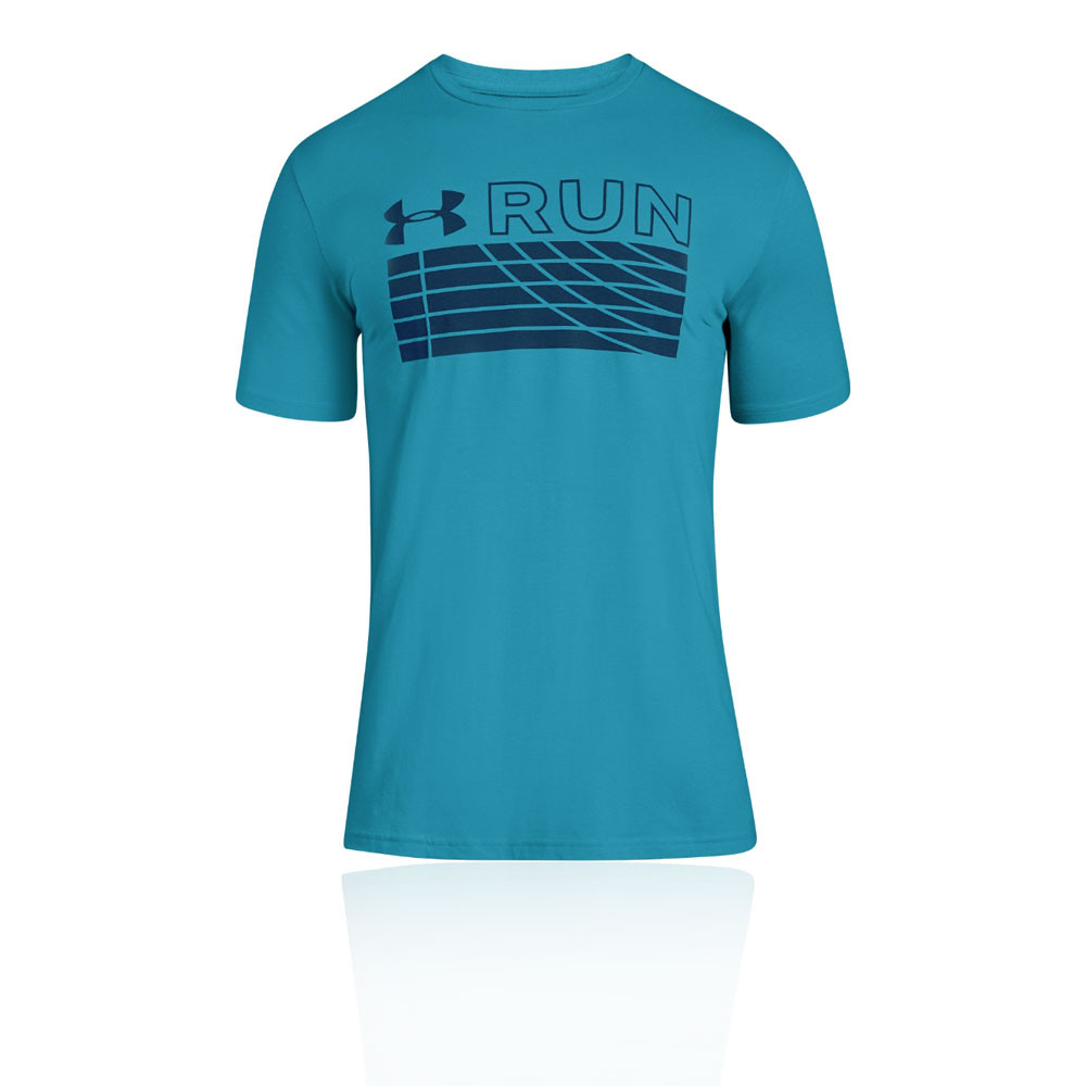 ef626d862 Under Armour Mens Run Track Graphic T Shirt Tee Top Blue Sports Gym  Breathable