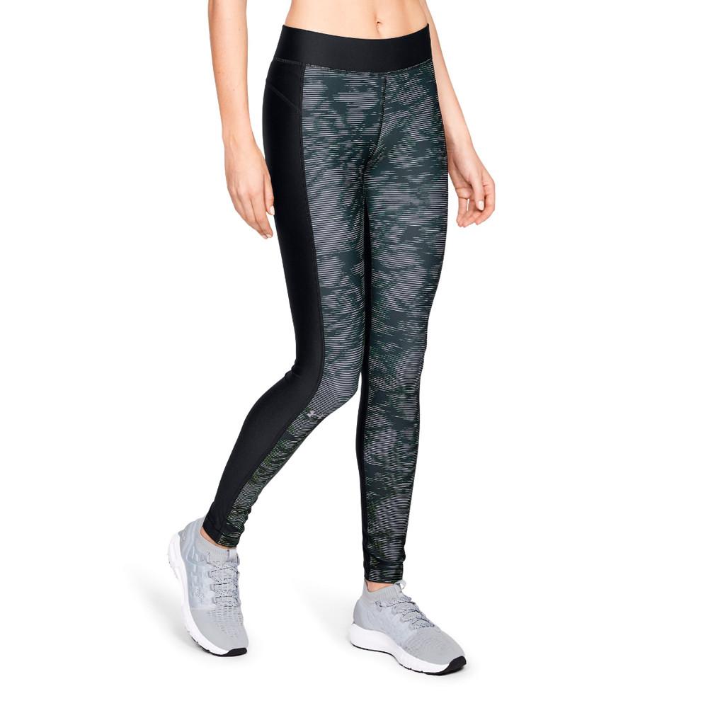 14fa65d39189b Details about Under Armour Womens HeatGear Printed Leggings Sport Bottoms  Pants Trousers Black