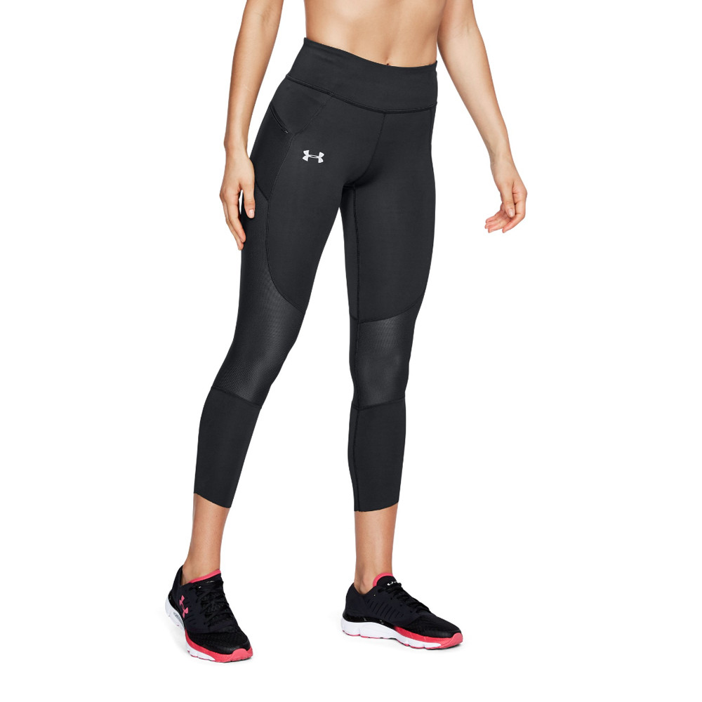 1ead45b050a841 Details about Under Armour Womens Speedpocket Cropped Running Tights  Bottoms Pants Trousers