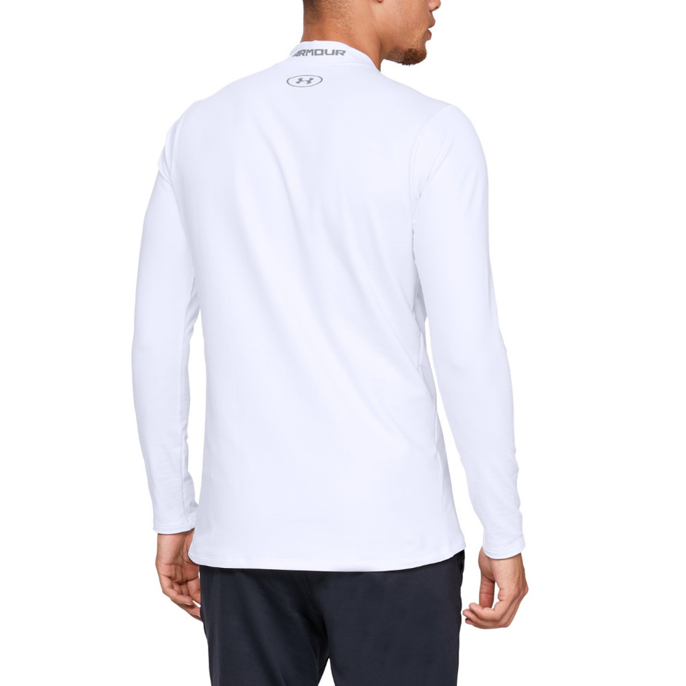 03f99efeea Details about Under Armour Mens ColdGear Fitted Mock Shirt White Sports Gym  Warm Breathable