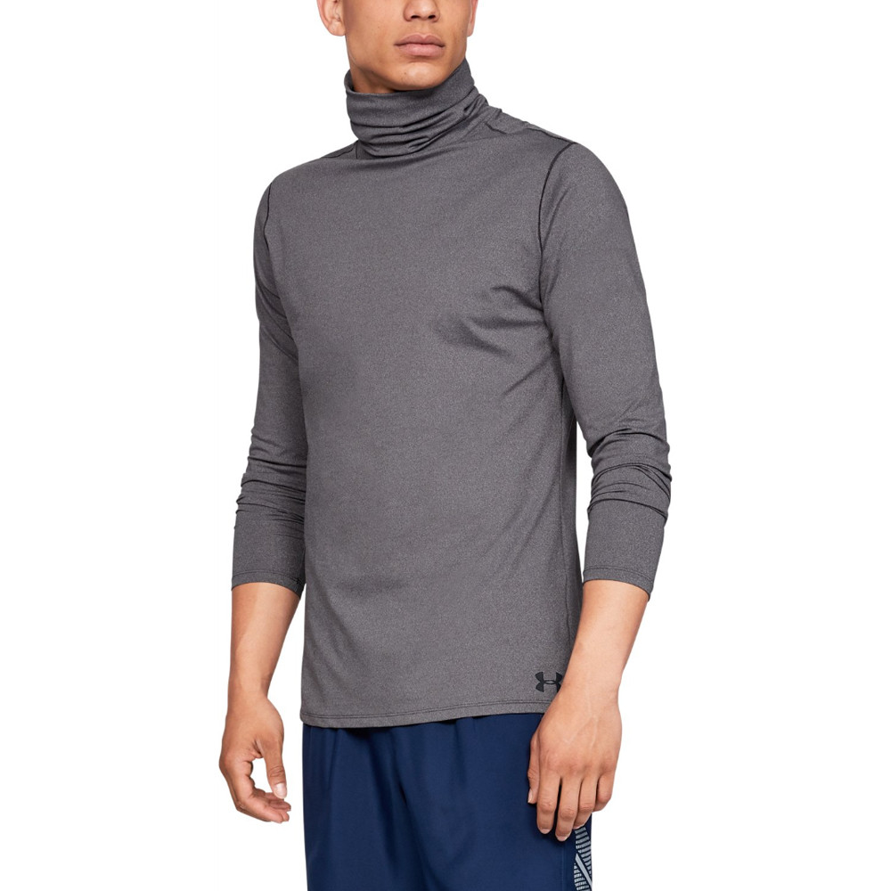 1e0558737c2 Details about Under Armour Mens Fitted ColdGear Funnel Neck Grey Sports Gym  Warm Breathable