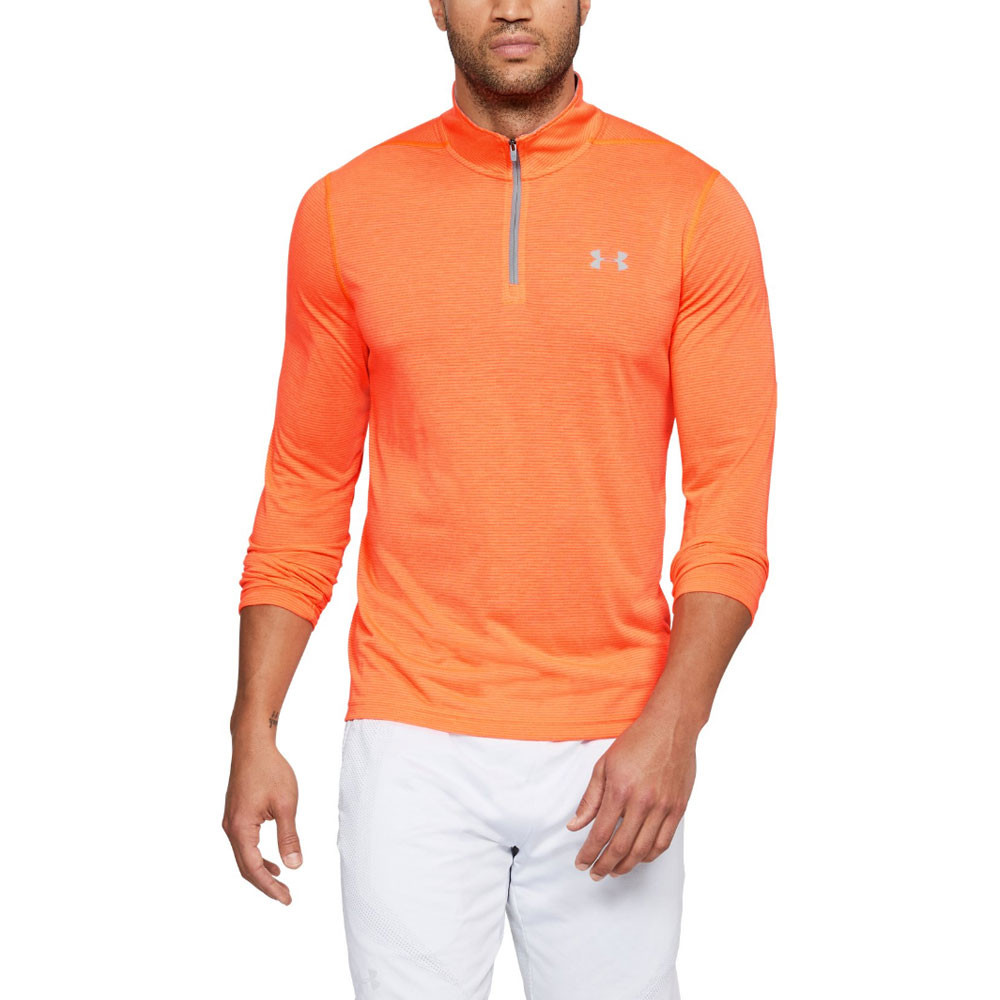 49e17c43e0 Details about Under Armour Mens Threadborne Fitted 1/4 Zip Training Gym  Fitness Top Orange