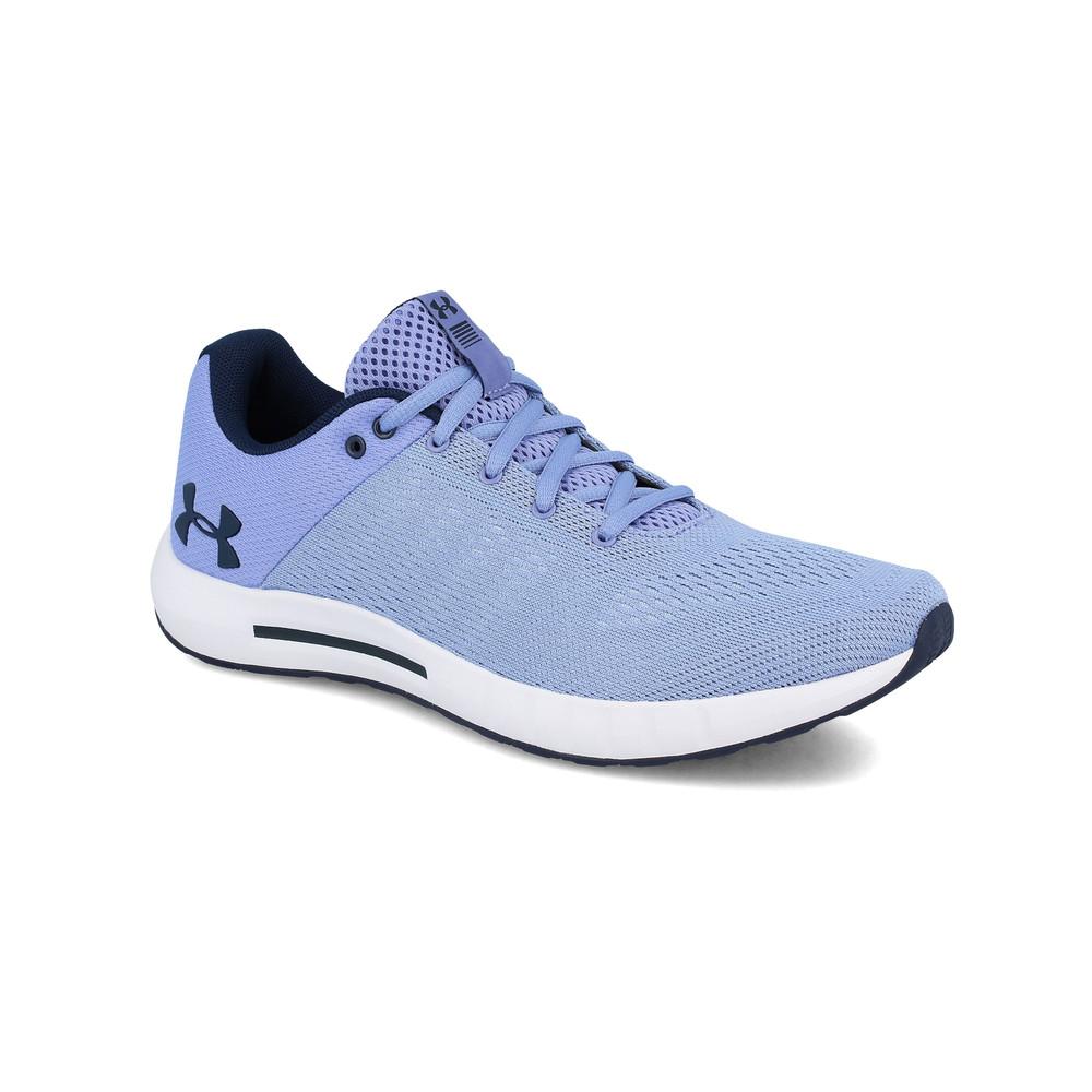 87443373 Detalles de Under Armour Mujer Micro G Pursuit Correr Zapatos Zapatillas  Azul Deporte
