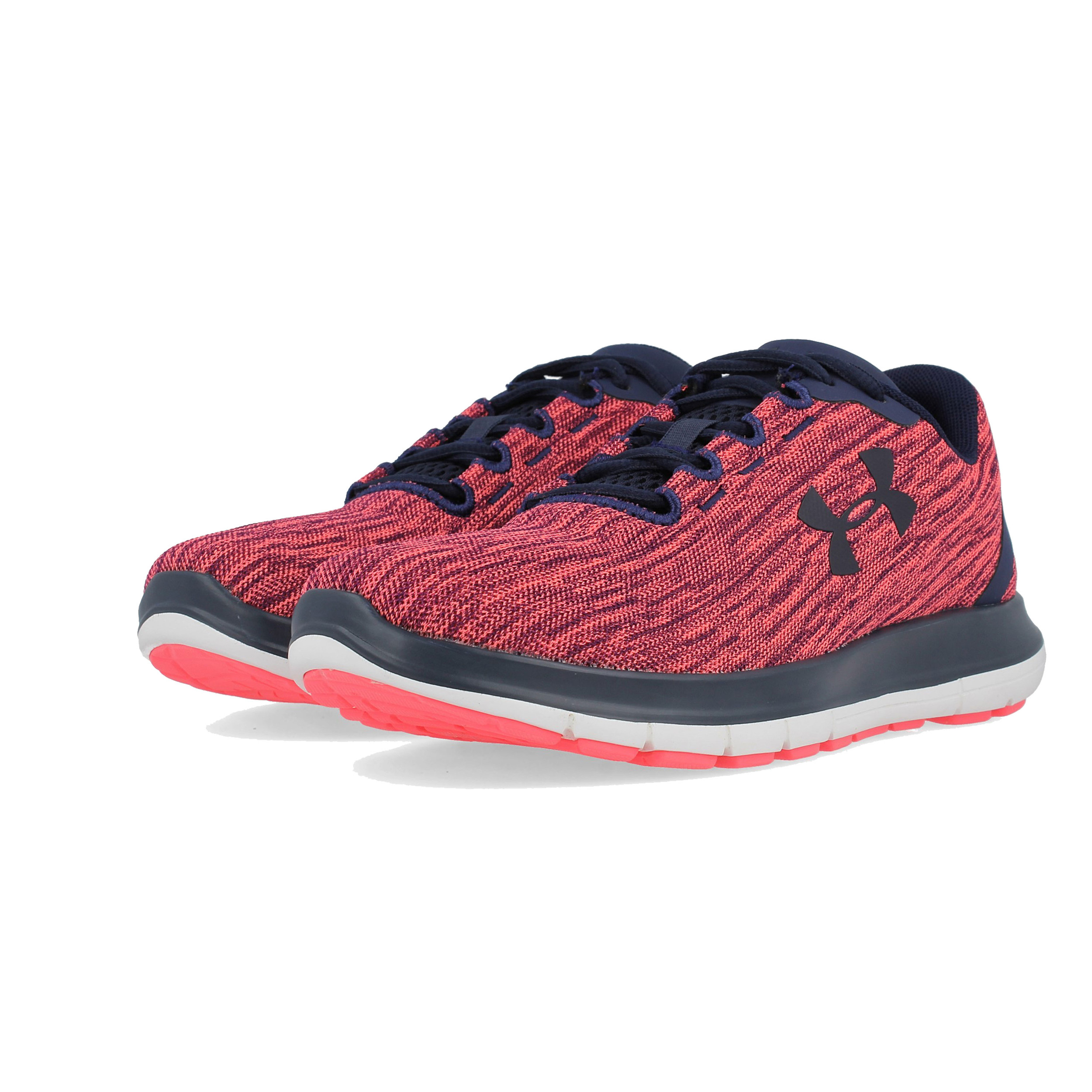 6f750de552 Details about Under Armour Womens Remix Running Shoes Trainers Sneakers Red  Sports Breathable