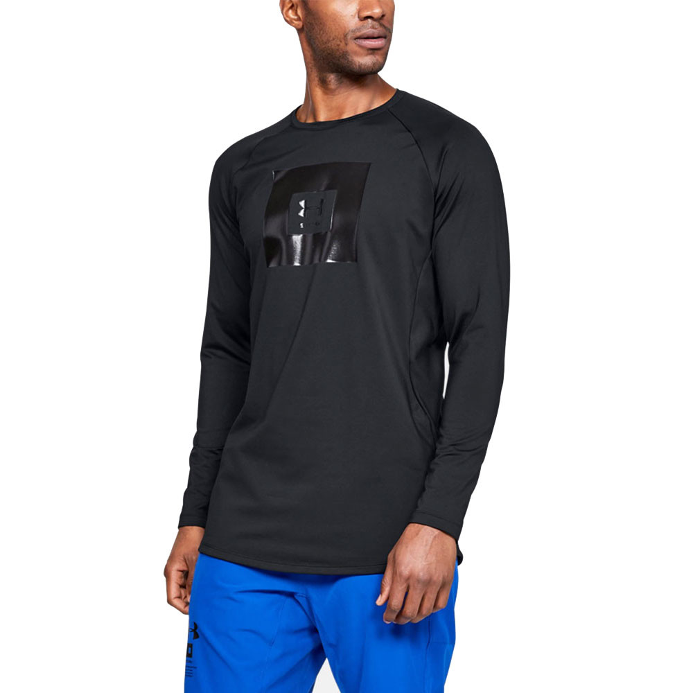 96925980f0 Details about Under Armour Mens Storm Cyclone Cold Gear Crew Neck Long  Sleeve Top Black Sports