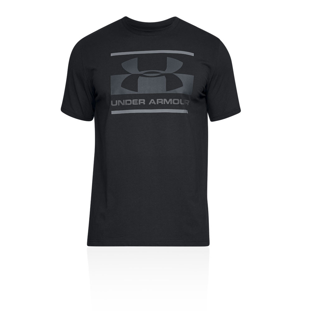 94644e47 Under Armour Mens UA Blocked Sportstyle Logo T Shirt Tee Top Black Sports  Gym