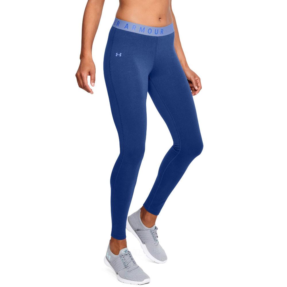 d17ca4242a24bb Under Armour Womens Favourite Leggings Bottoms Pants Trousers Blue Sports  Gym