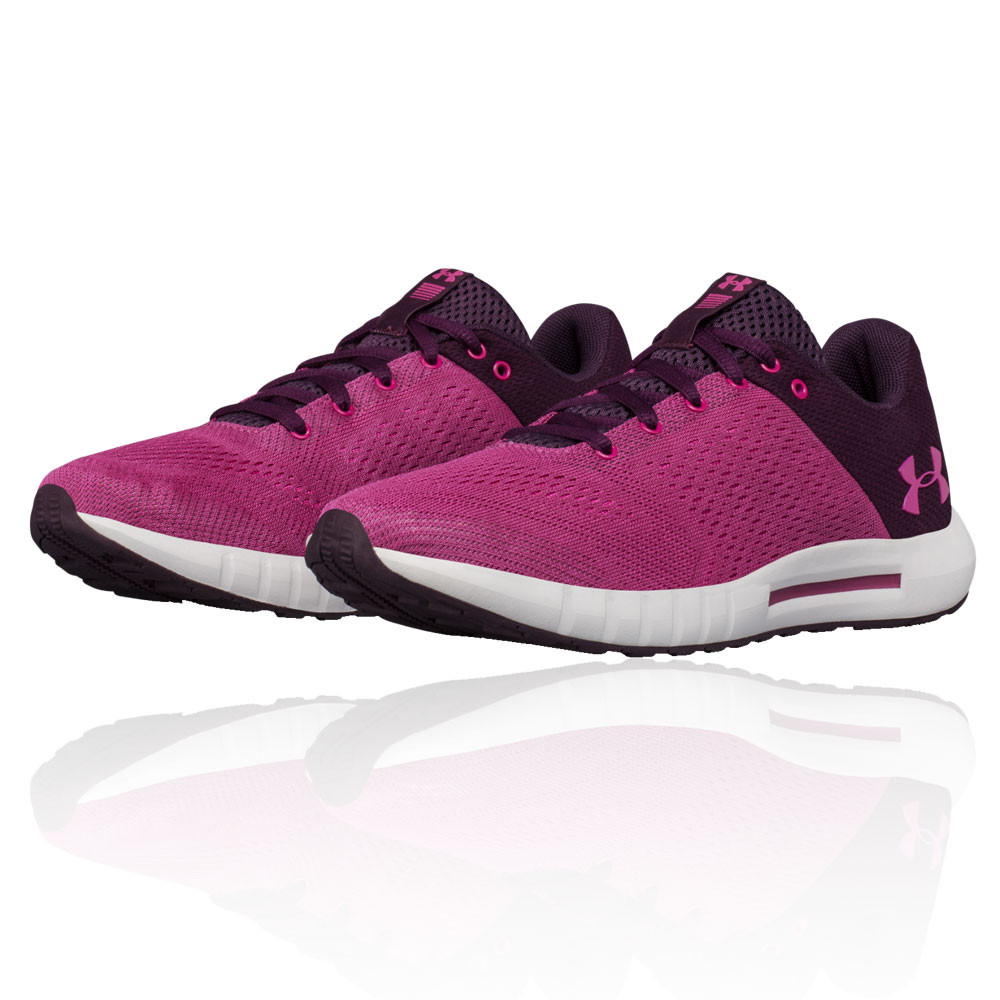 50d466f20a9e3 Details about Under Armour Womens Micro G Pursuit Running Shoes Trainers  Sneakers Purple