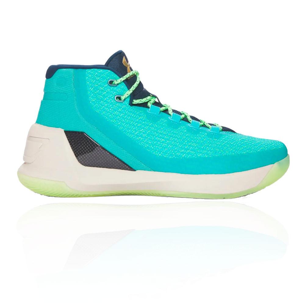 fecha de lanzamiento: procesos de tintura meticulosos comprando ahora Detalles de Under Armour Hombre Curry 3 Baloncesto Zapatos Azul Deporte  Transpirable