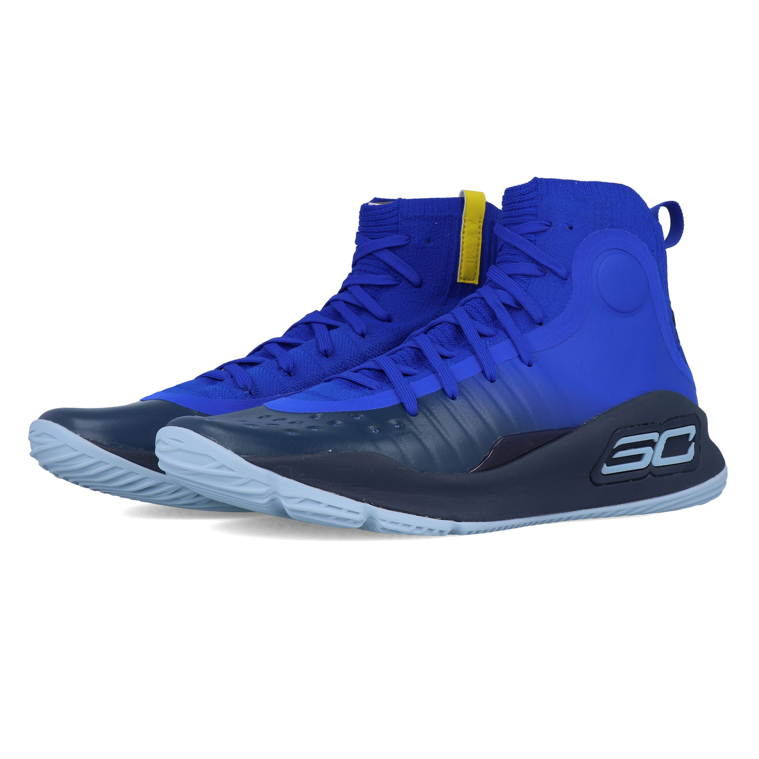 0c85ca8a84e5 Under Armour Mens Curry 4 Basketball Shoes Blue Sports Breathable  Lightweight