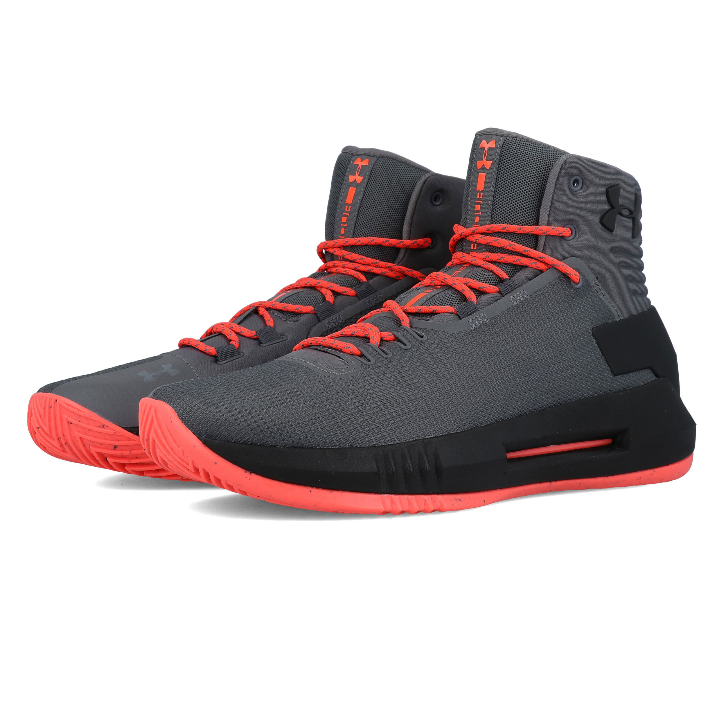fed6866cc5 Details about Under Armour Mens Drive 4 Basketball Shoes Grey Sports  Breathable Lightweight