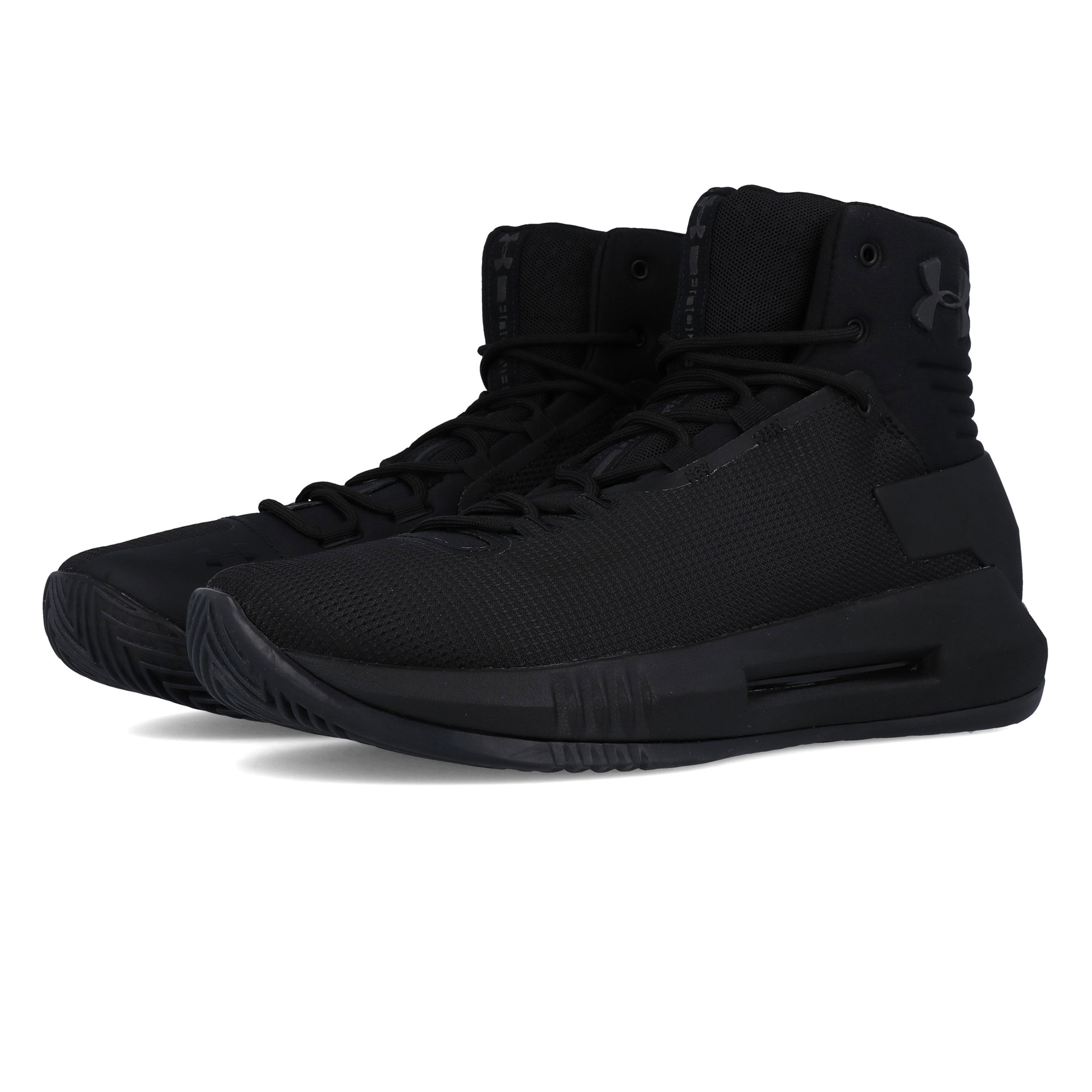 992185da7893 Under Armour Mens Drive 4 Basketball Shoes Black Sports Breathable  Lightweight