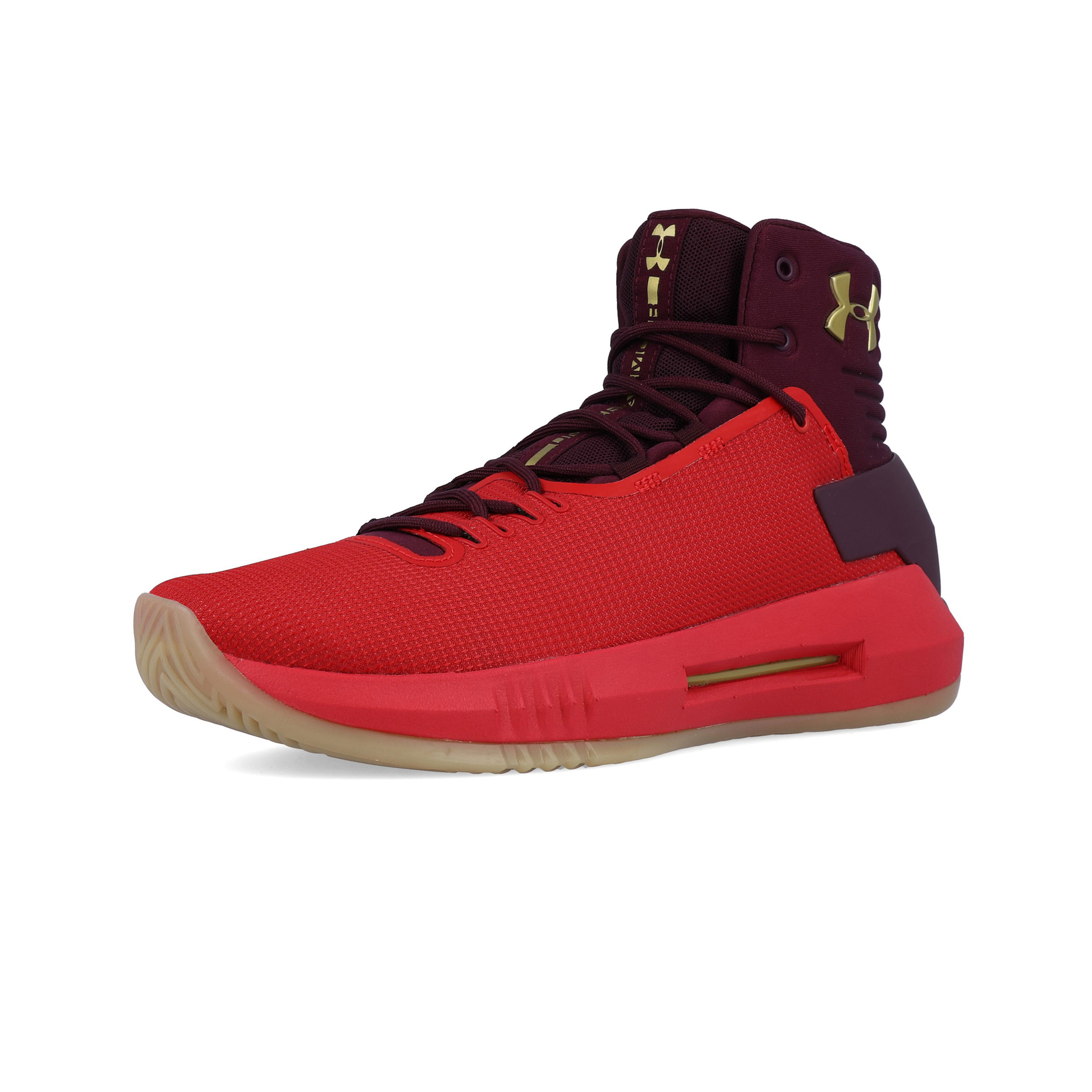6549efcc51 Details about Under Armour Mens Drive 4 Basketball Shoes Red Sports  Breathable Lightweight