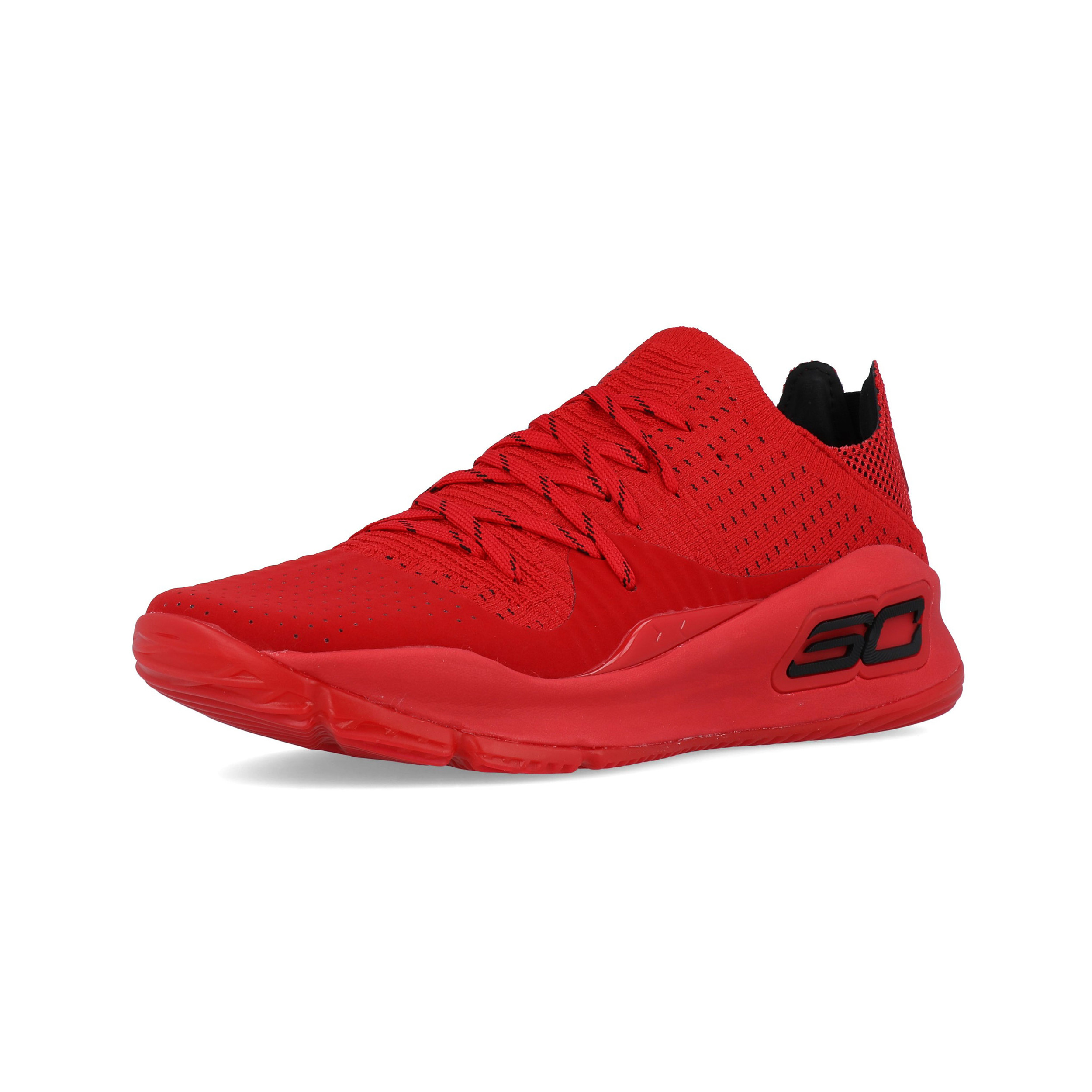 5e8afe5001e6 Under Armour Mens Curry 4 Basketball Shoes Red Sports Breathable Lightweight