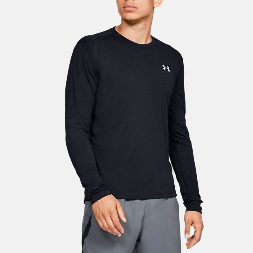 Under Armour Mens Sportstyle Logo Long Sleeve Top Red Sports Gym Running