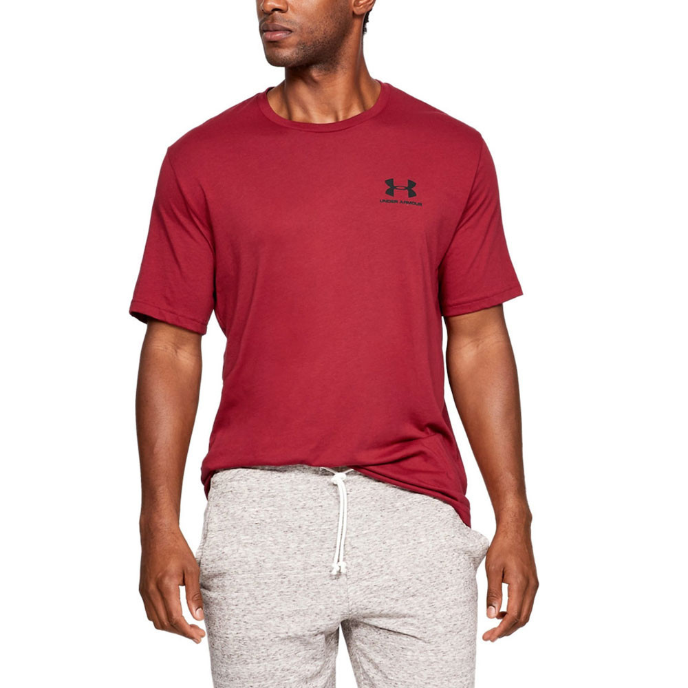 88de4ddeef Details about Under Armour Mens Sportstyle Short Sleeve T Shirt Tee Top Red  Sports Gym