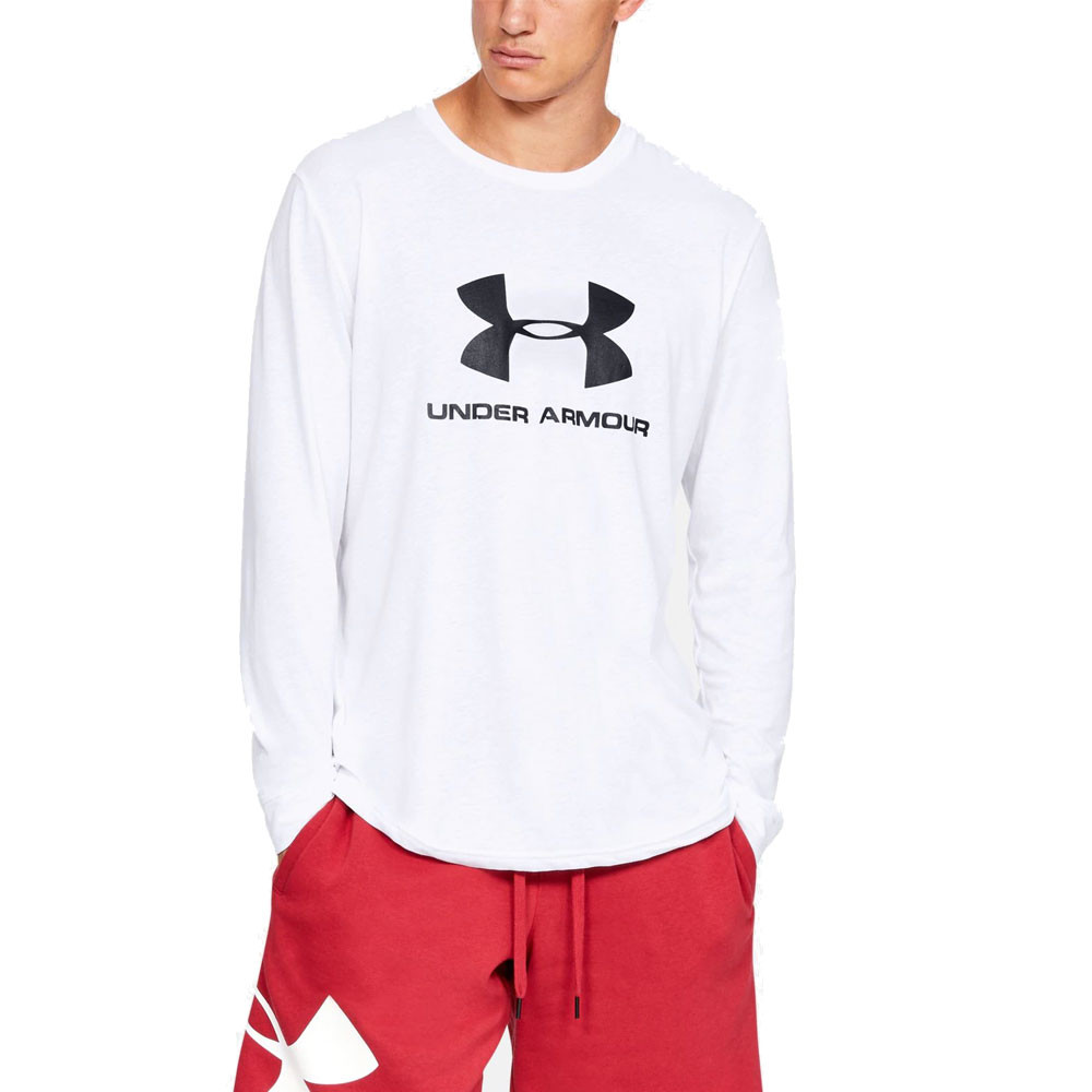 331440d9 Details about Under Armour Mens Sportstyle Logo Long Sleeve Top Black  Sports Gym Running