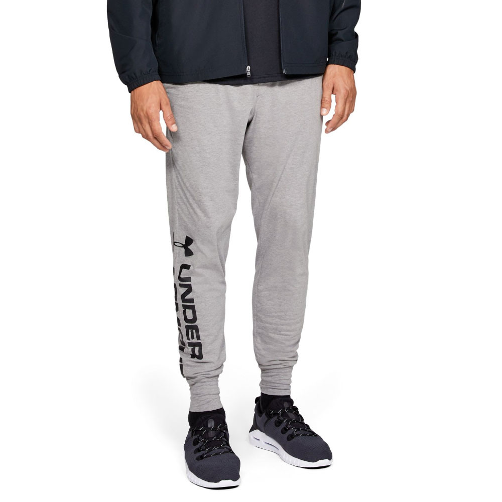 Under Armour Mens Sportstyle Cotton Graphic Pants Trousers Bottoms Grey Sports