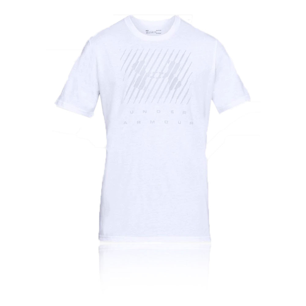 f9c29f99c Details about Under Armour Mens Branded Big Logo Short Sleeve T Shirt Tee  Top White Sports