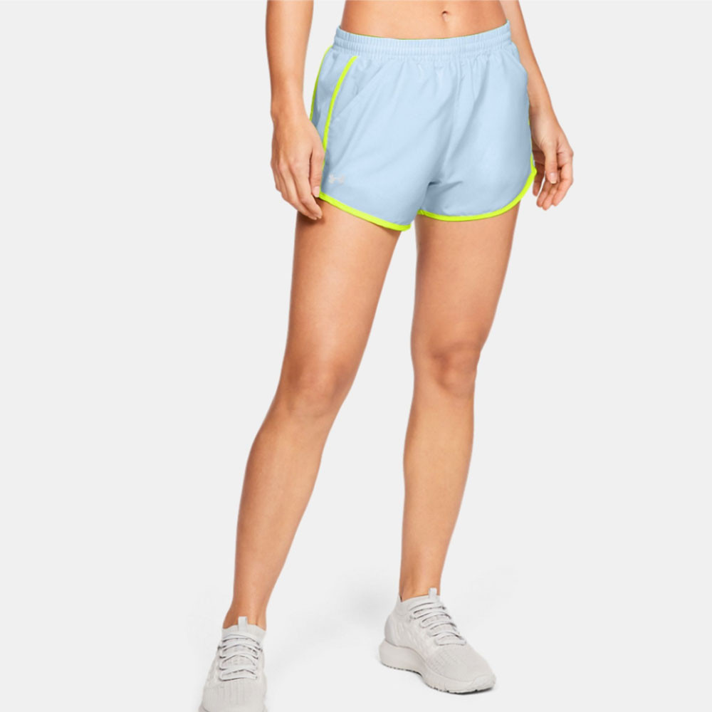08df0689 Details about Under Armour Womens Fly By Shorts Pants Trousers Bottoms Blue  Sports Gym