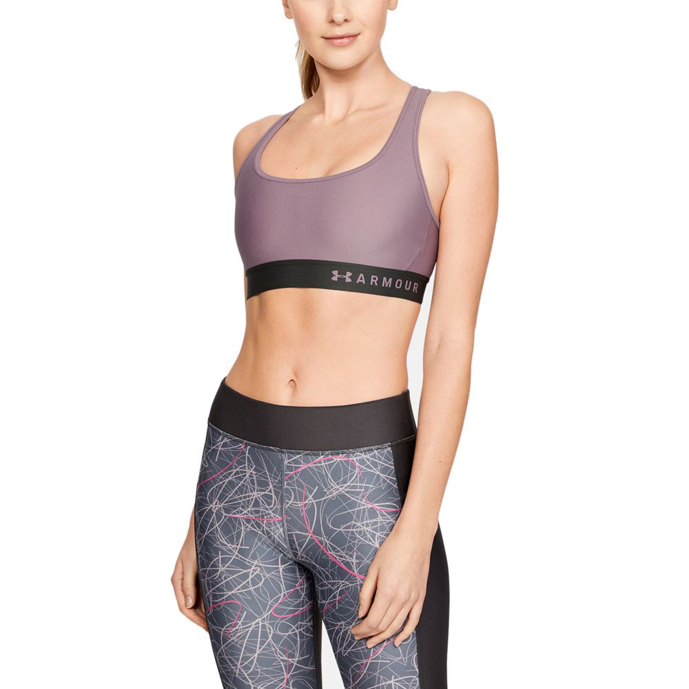 227fdfe95f Under Armour Womens Mid Crossback Sports Support Bra Top Purple Boxing  Cycling