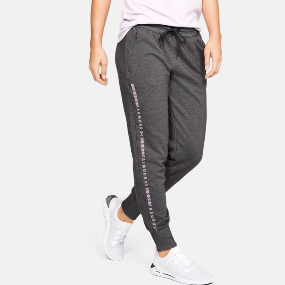 8efc5f5f80 Details about Under Armour Womens Microthread Fleece Trousers Grey Sports  Gym Running