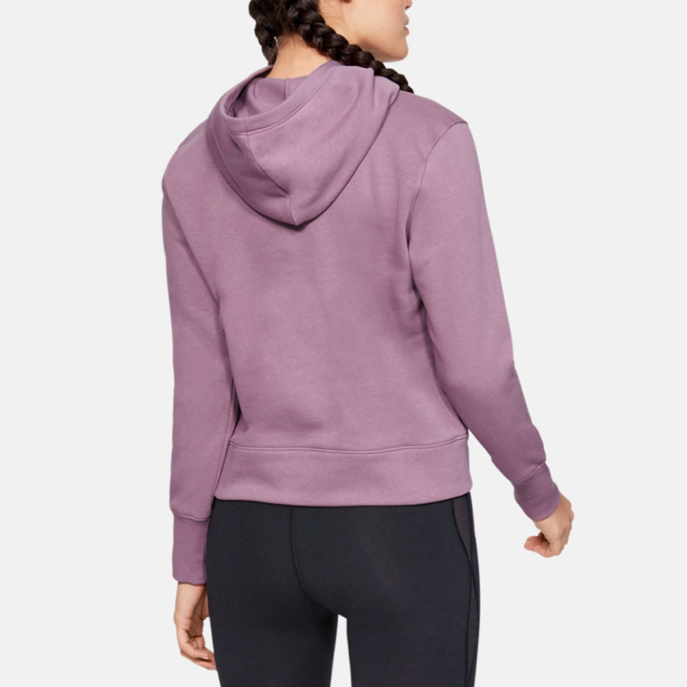 0059a376d5 Details about Under Armour Womens Rival Fleece Logo Hoodie Purple Sports  Gym Hooded Breathable