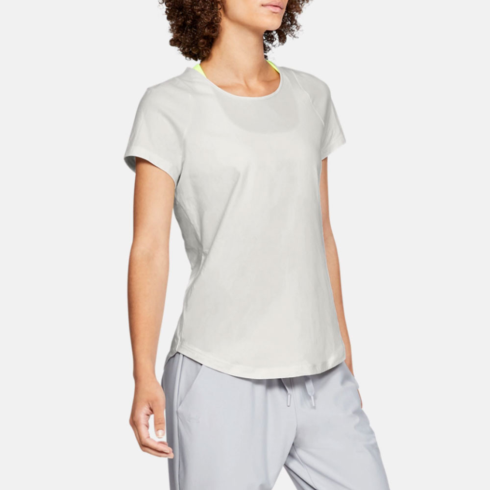 af86c60098 Details about Under Armour Womens Vanish Seamless Short Sleeve T Shirt Tee  Top Grey Sports Gym