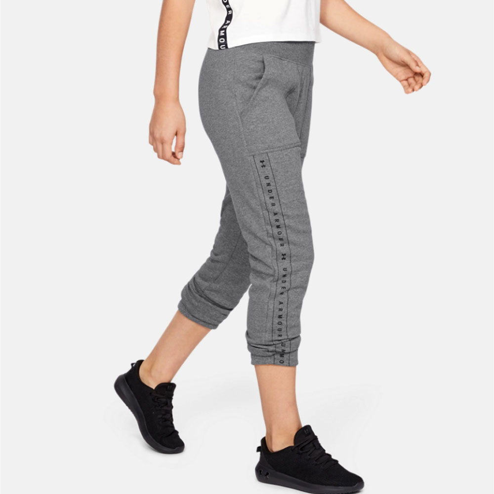 687c214b5d Details about Under Armour Womens Rival Fleece Pants Trousers Bottoms Grey  Sports Gym Running