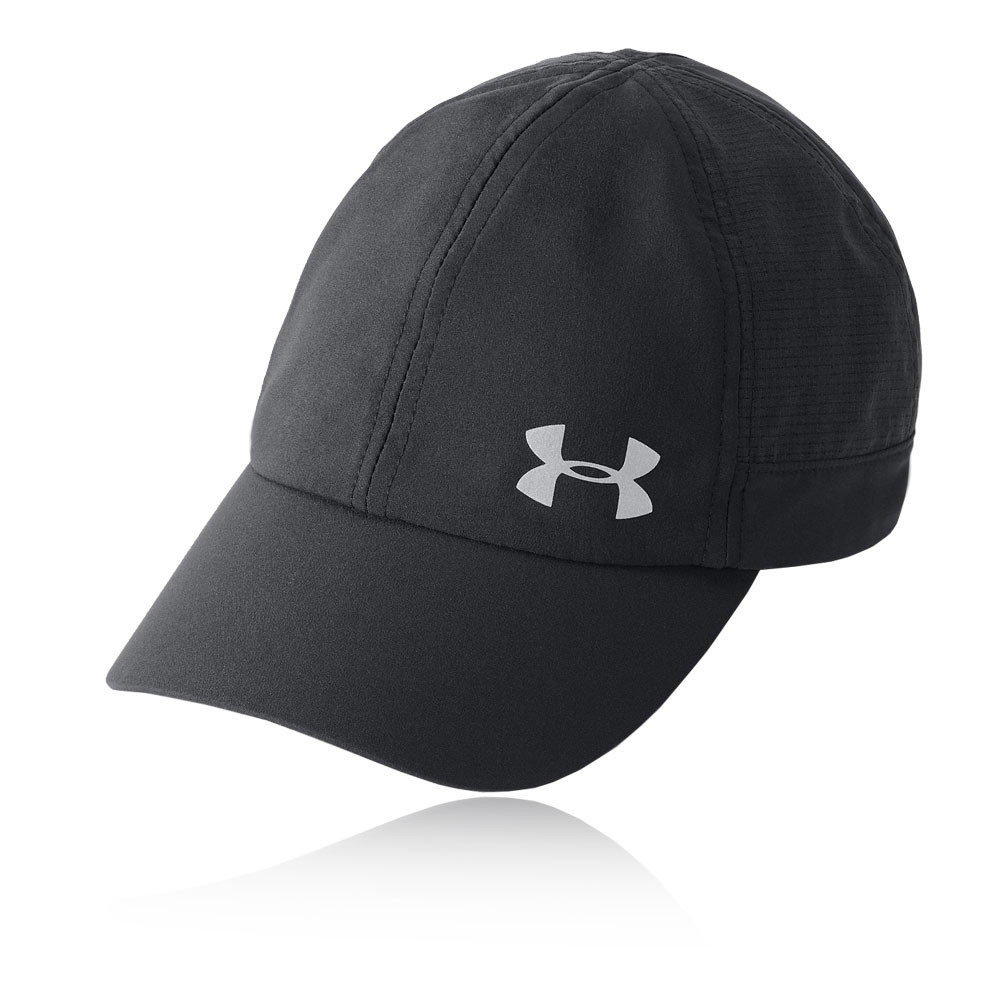 bb922676944 Details about Under Armour Womens Fly By Cap Black Sports Running  Breathable Reflective