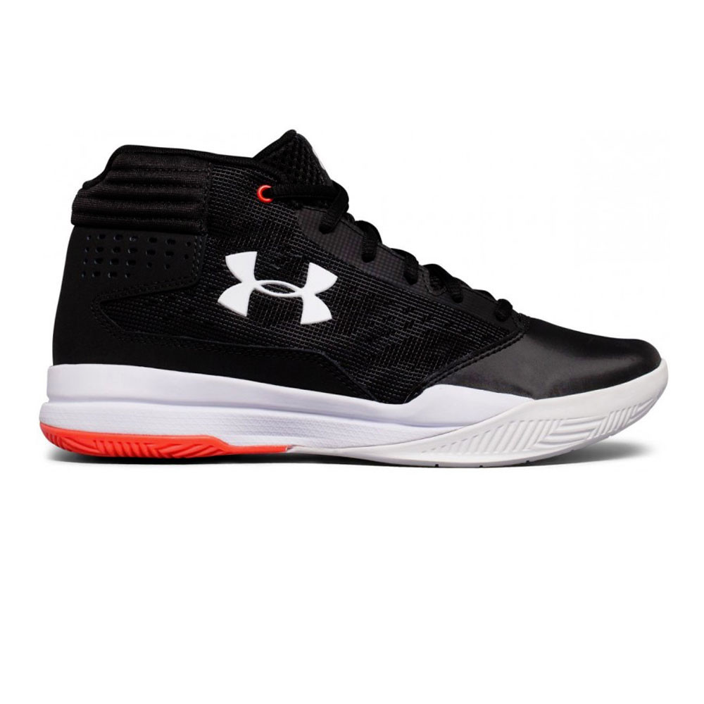 58ff0b3c8c1 Under Armour Junior GS Jet 2017 Basketball Shoes Black Sports Breathable