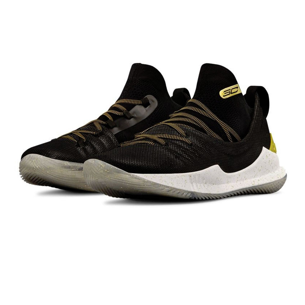 new style 37fec 58aaa Details about Under Armour Mens Curry 5 Basketball Shoes Black Sports  Breathable Lightweight