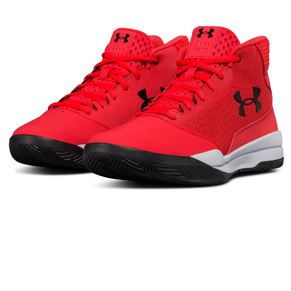 dd14cc407d Details about Under Armour Mens UA Jet Mid Basketball Shoe Red Sports  Breathable Lightweight