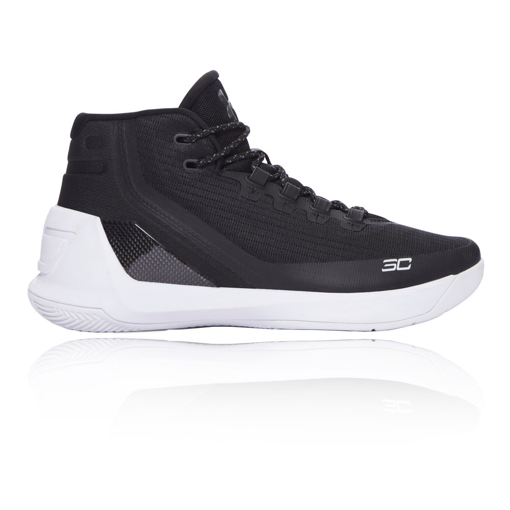 673b677aa5ad Details about Under Armour Mens Curry 3 Basketball Shoes Black White Sports  Breathable