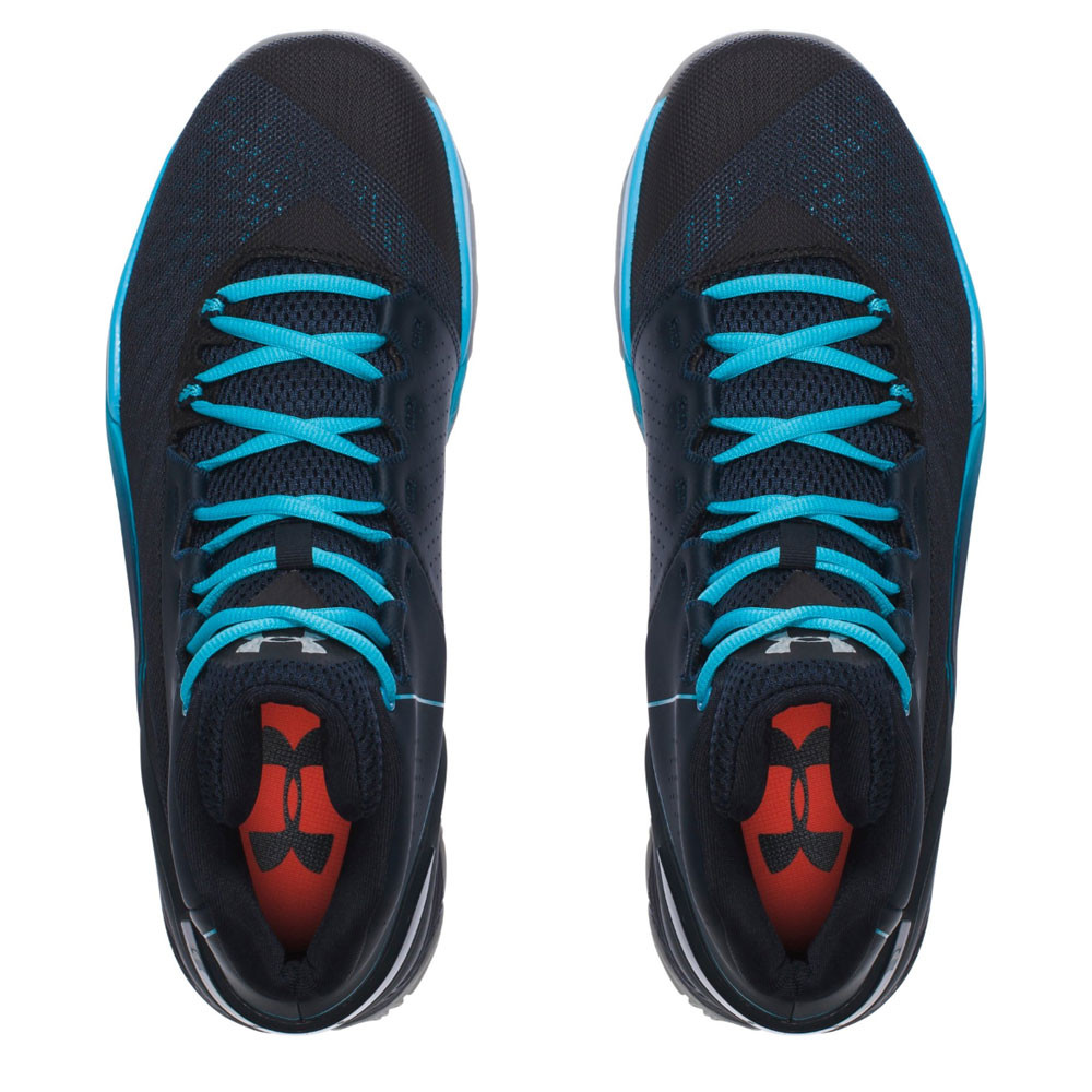 b9f144fe9b37 Under Armour Mens Longshot Basketball Shoes Black Blue Sports Breathable