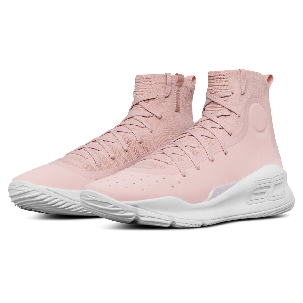 release date 838c4 63935 Details about Under Armour Mens Curry 4 Basketball Shoes Pink Sports  Breathable Lightweight