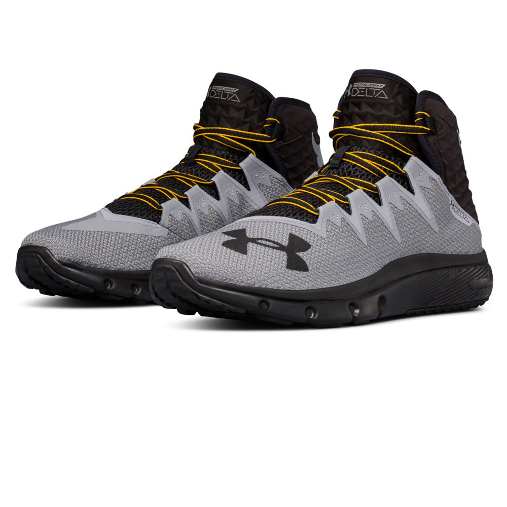 4bfca100ea Details about Under Armour Mens Project Rock Delta Training Gym Fitness  Shoe Black Grey Sports
