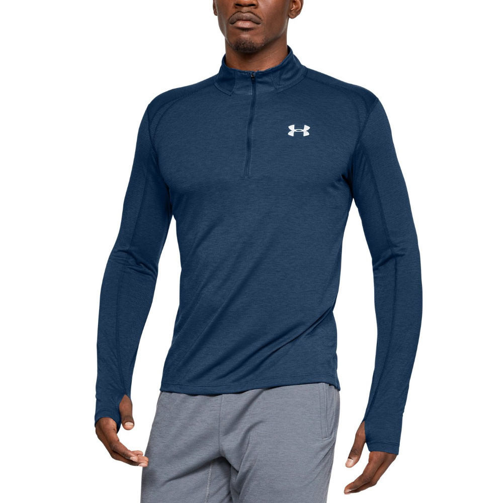 7c537b961c857e Details about Under Armour Mens Streaker 2.0 Half Zip Top Navy Blue Sports  Gym Running