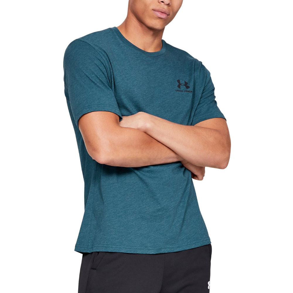 ea81002d83 Details about Under Armour Mens Sportstyle Left Chest Running T Shirt Tee  Top Blue Sports Gym