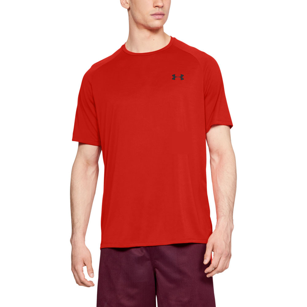 e68fd4fd67 Details about Under Armour Mens Tech Short-Sleeve Tee Red Sports Gym  Breathable Lightweight
