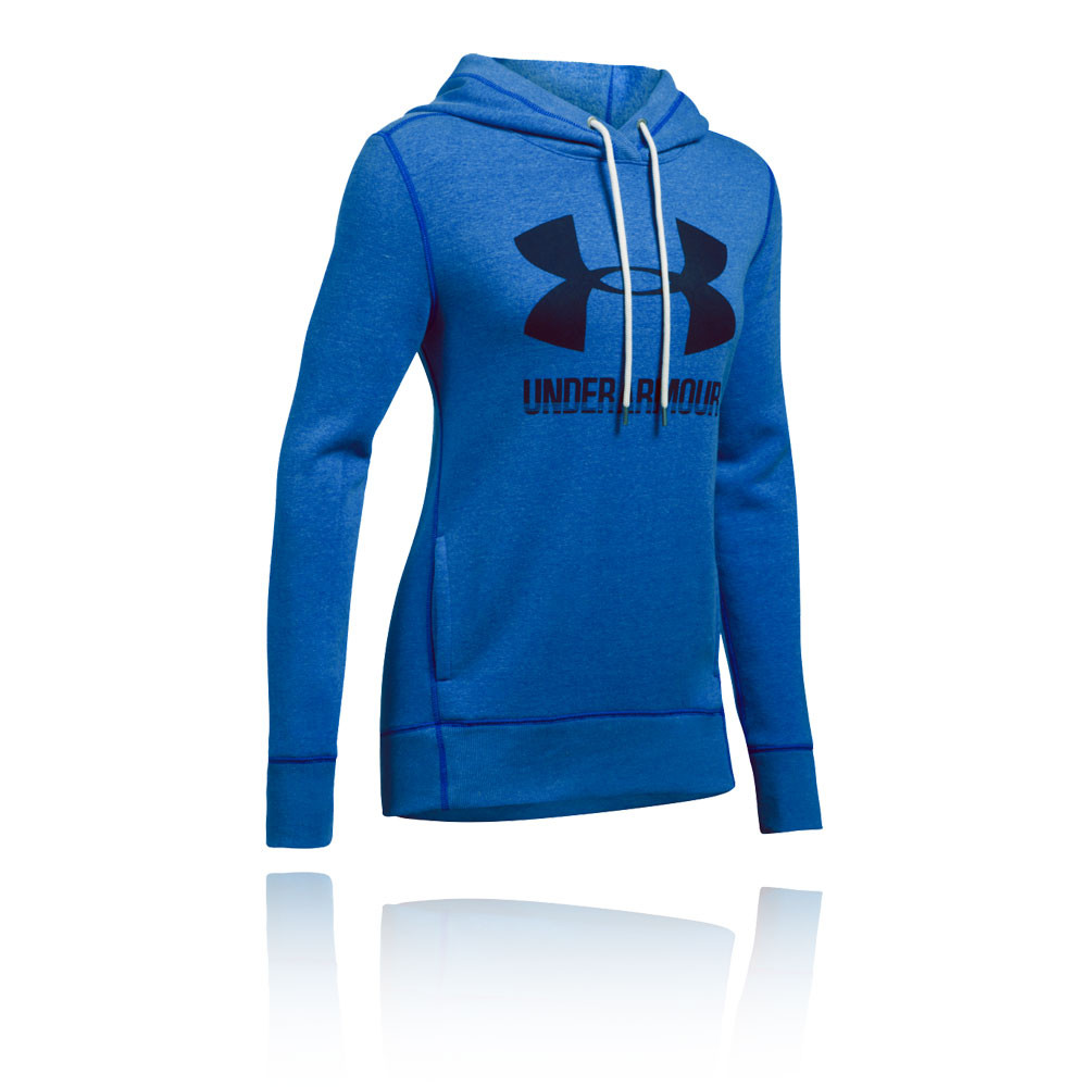 c4b646e51d Details about Under Armour Womens UA Favourite Fleece Pullover Hoodie Blue  Sports Gym Hooded