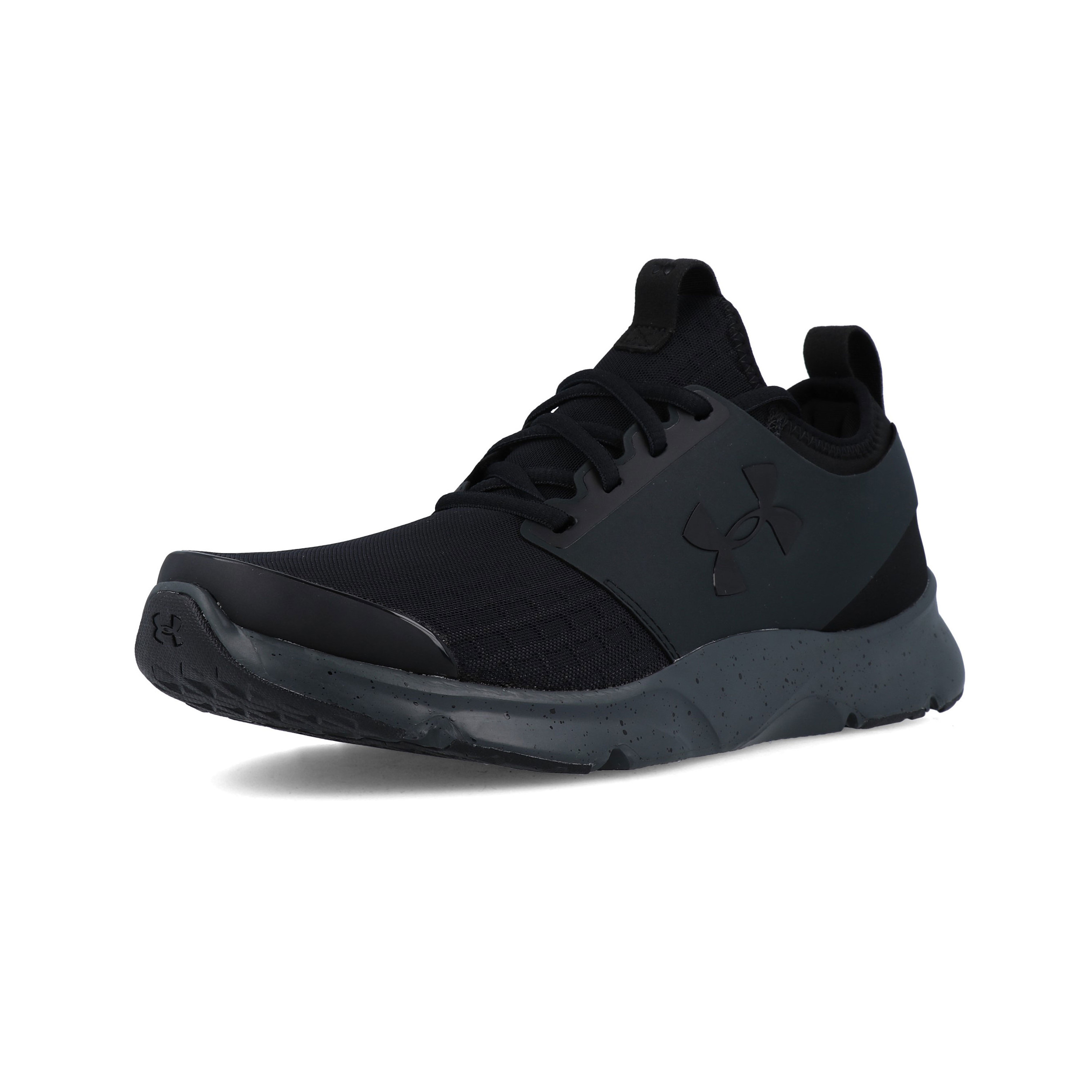 Armour-Para-Hombre-Negro-Drift-correr-Under-Shoes-Trainers-Deportes-Transpirable miniatura 4