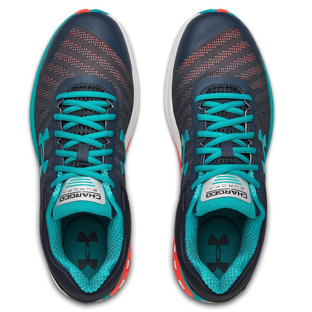 Under Armour Mens Charged Europa 2 Running Shoes Trainers Blue Grey Sports
