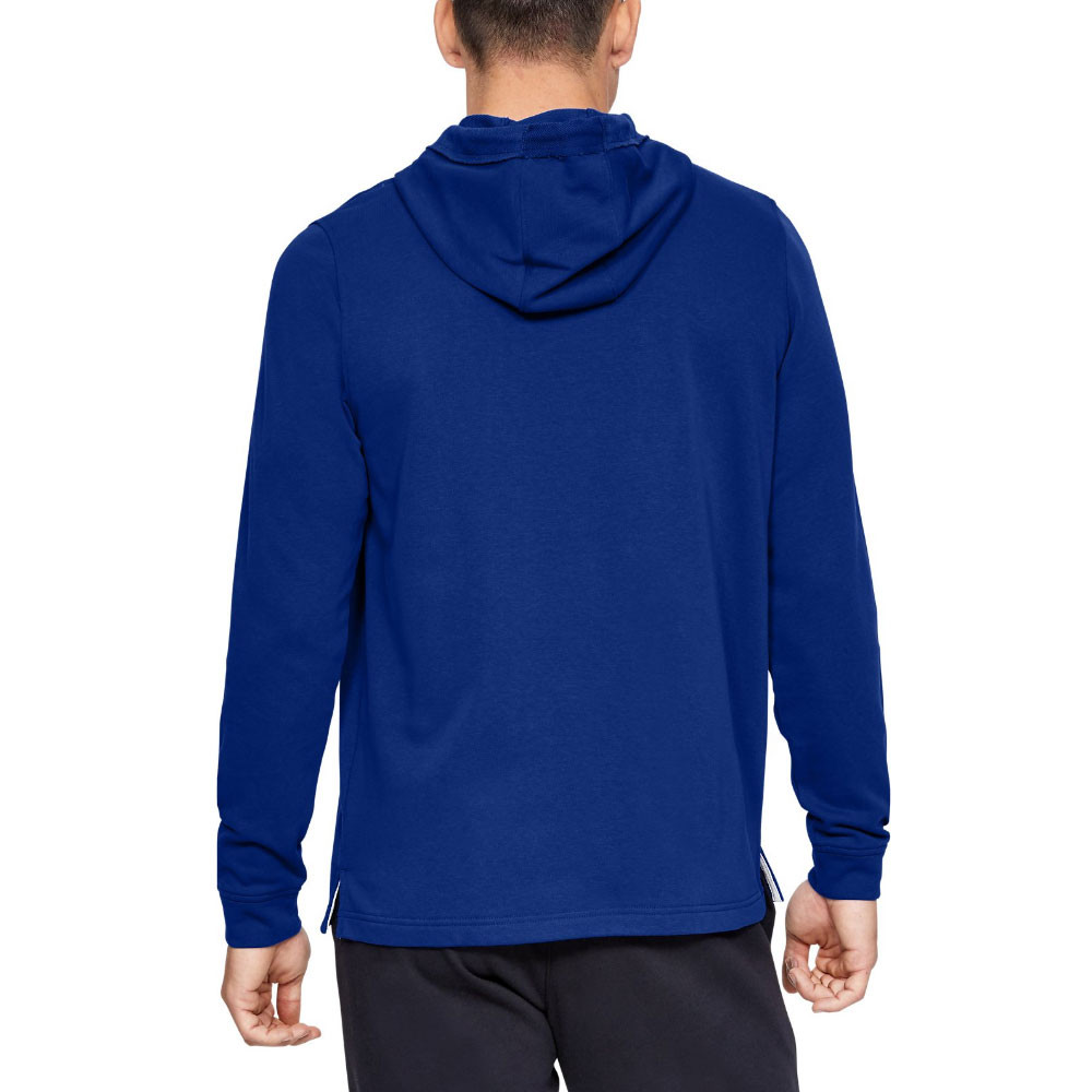 Under Armour Mens Sportstyle Terry Logo Hoodie Blue Sports Running Gym Hooded