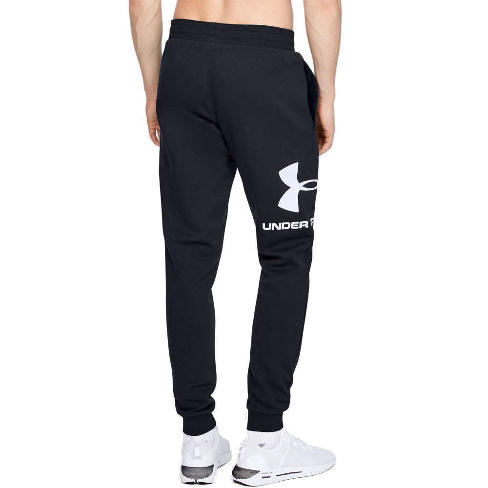 Black Sports Outdoors Gym Under Armour Mens Rival Fleece Wordmark Logo Joggers
