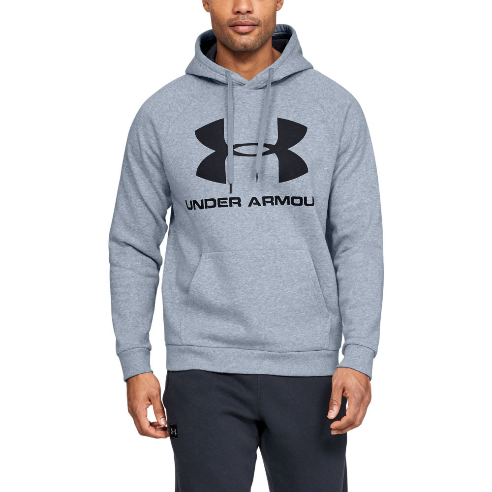 Details about Under Armour Mens Rival Fleece Sportstyle Logo Hoodie Hoody Hooded Top Grey