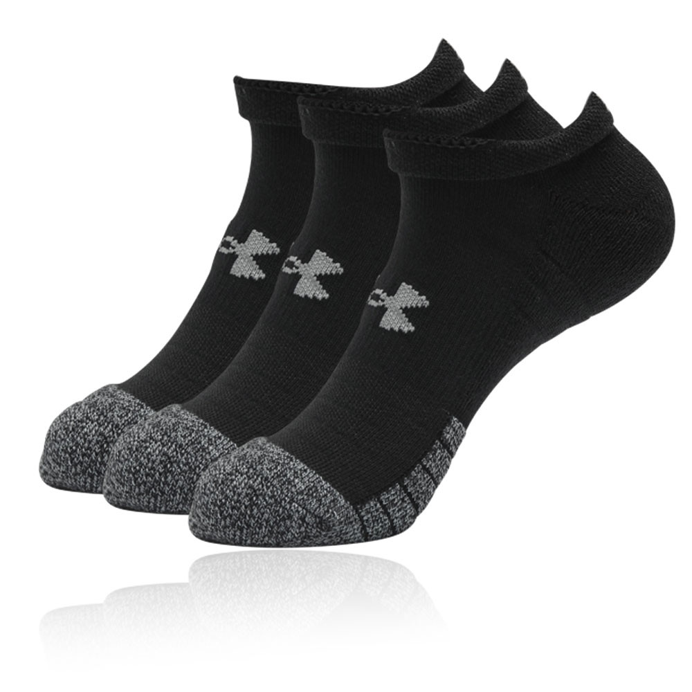Under Armour No Show Running Socks Black//White Assorted Sizes