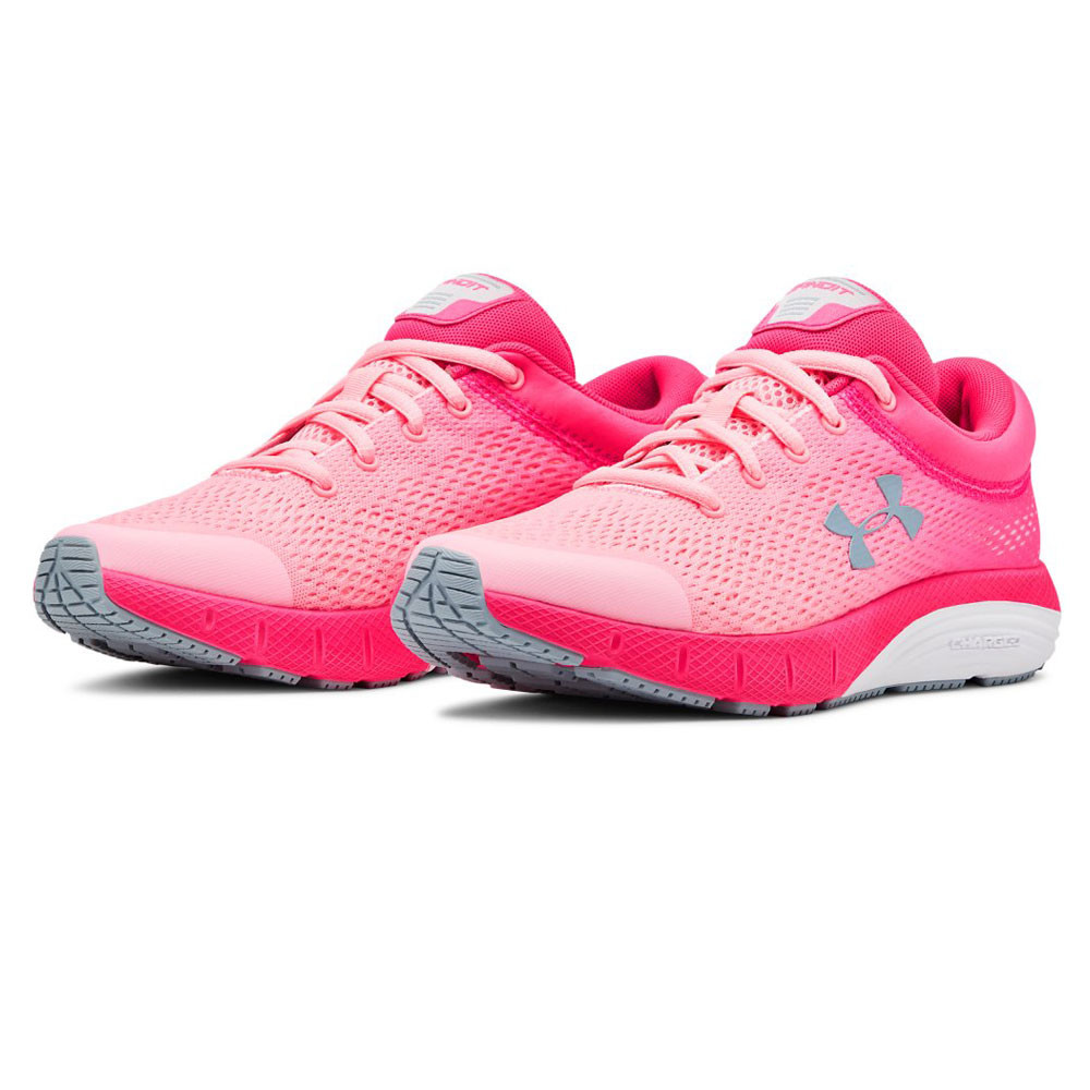 Pink Sports Under Armour Boys GS Assert 8 Running Shoes Trainers Sneakers