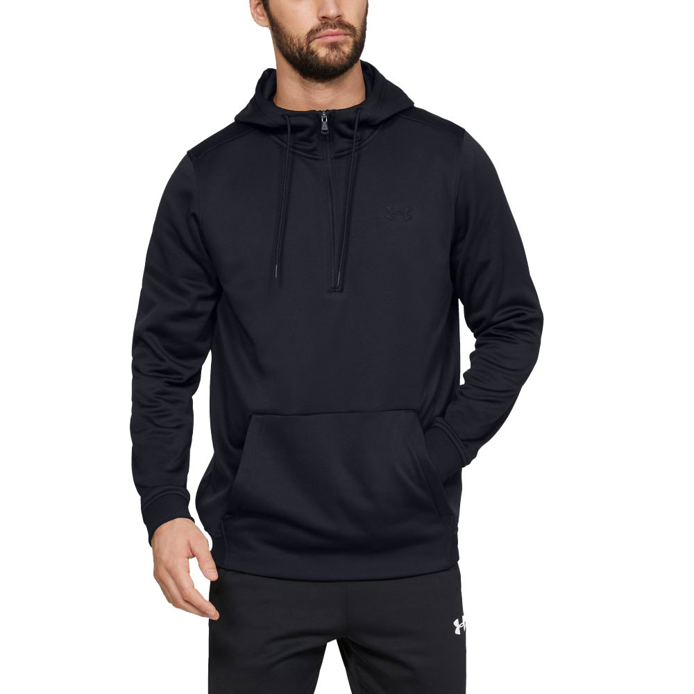 Under Armour Womens MOVE Zip Hoodie Black Sports Gym Full Hooded Breathable