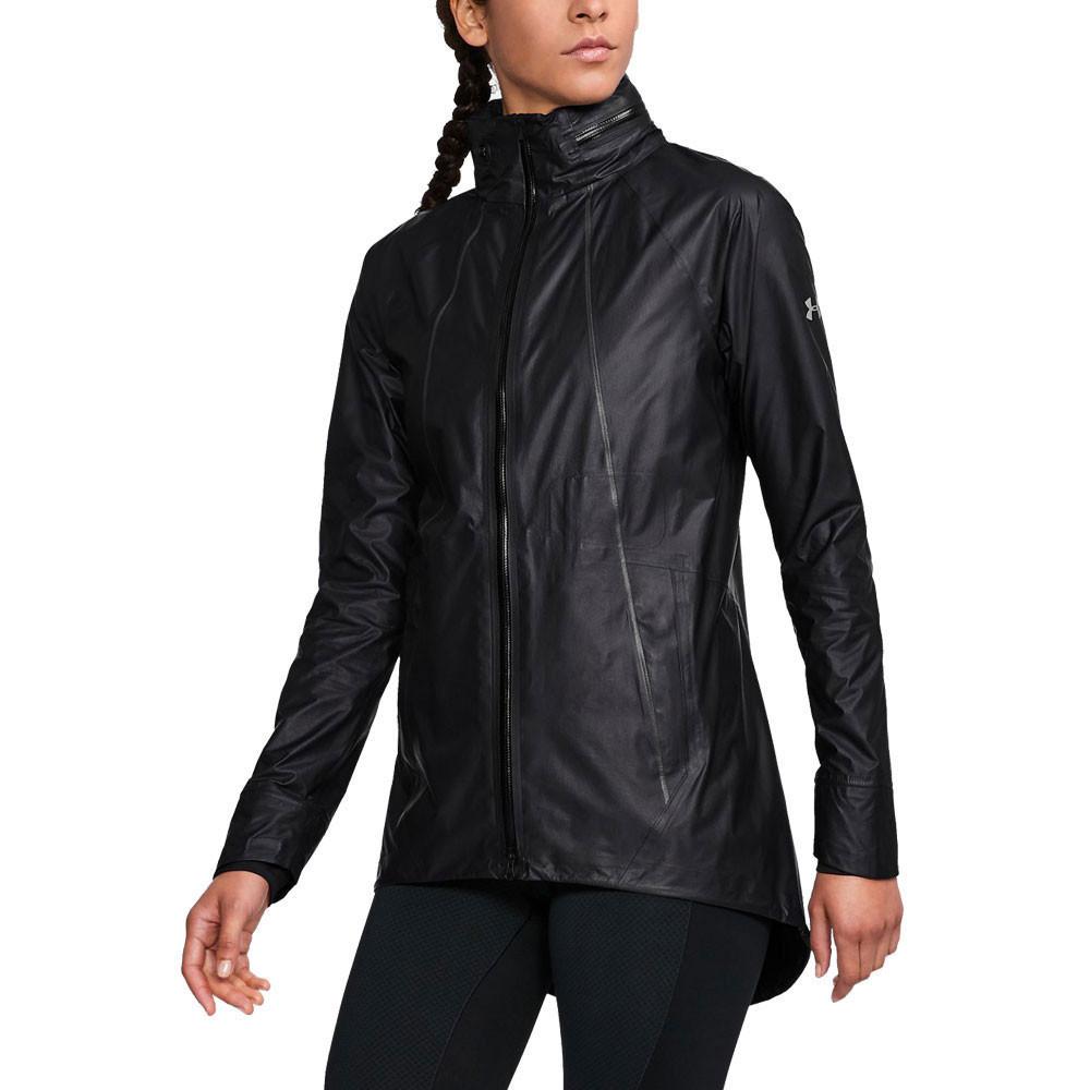 franja Sofisticado Abandonado  Under Armour Mujer GORE-TEX Shakedry Chaqueta Top Negro Deporte Correr |  eBay